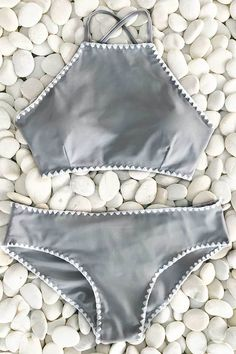 Cupshe Collect Shells At Beachside Cross Bikini Set