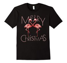 Marry Christmas Flamingo With Santa Hat T Shirt, Hoodie Gift Idea