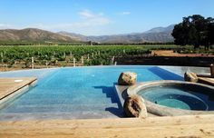 Baja's Valle de Guadalupe is wine lovers paradise - The San Diego Union-Tribune Wine Lovers, Infinity Edge Pool, Small B, Country Hotel, Dream Pools, Wine Country, Lodges, San Diego, Vineyard