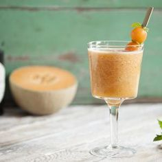 blended cantaloupe cocktail @calcantaloupes
