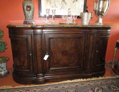 THOMASVILLE HILLS OF TUSCANY BIBBIANO MARBLE TOP SIDEBOARD OR BUFFET