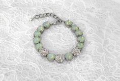 Mint Green Bracelet Seafoam Mint Green by LuxuryTouchCreations, $45.00