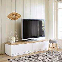 Meuble TV en chêne massif blanc L 180 cm Austral | Maisons du Monde