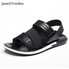 fd904ab3d3ca05 2018 Summer Leather Men Sandals Black Simple Hand Sewing Men Shoes  Comfortable Beach Shoes Men Sandals. Yesterday s price  US  62.74 (54.44  EUR).