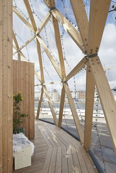 Dome Of Visions - Picture gallery Timber Architecture, Amazing Architecture, Architecture Details, Dome Structure, Timber Structure, Facade Design, House Design, Geodesic Dome Homes, Dome Greenhouse