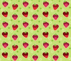 Strawberry Girls fabric by Dianef.