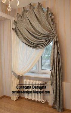 K--6--arched windows curtains on hooks, arched windows treatments
