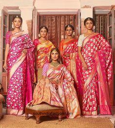 Bridal Benarasi by Coloroso Saree Indian Attire, Indian Ethnic Wear, Indian Style, Indian Dresses, Indian Outfits, Churidar, Anarkali, Banarsi Saree, Silk Lehenga