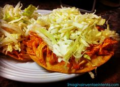 Tostadas de Tinga - These authentic mexican tostadas are easy to make and so yummy