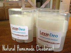 Homemade deodrants