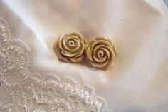 Cocoa Rose Studs