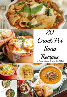 Stay warm and make dinner easy with one of these 20 Crock Pot Soup Recipes!