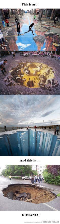 Very realistic 3D street art…