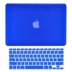 """TOP CASE - 2 in 1 Bundle Deal Air 13-Inch Rubberized Hard Case Cover and Matching Color Keyboard Cover for Macbook Air 13"""" (A1369 and A1466) with TopCase Mouse Pad - Royal Blue"""