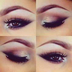 Black and golden make up