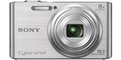 DSC-W730 - silver by Sony. $271.06. The Cyber-shot DSC-W730 from Sony is a compact camera with a CCD sensor of 16.4 megapixels and an 8x optical zoom. Its 25 mm wide-angle aperture allows you to take wider shots for group pictures.The Cyber-shot DSC-W730 is intuitive, using iAuto modes and smile detection to adapt to all types of shots. With stunning design, this lightweight Sony also has a 2.7 inch LCD screen.Internal menu languages: English, French, German, ...