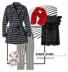 """""""stripe story #1"""" by ina-misshijab on Polyvore featuring River Island, Zimmermann, Banana Republic, Salvatore Ferragamo, White Label and Miss KG"""