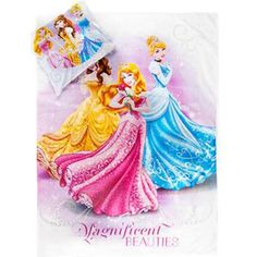 Disney prinsesse junior sengetøj med Askepot, Belle og Rapunzel