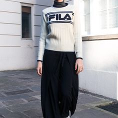 UO Exclusive Fila Lucy Logo Knit Jumper