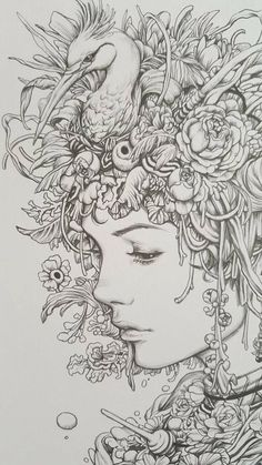 Healthy living at home devero login account access account Tattoo Sketches, Art Sketches, Art Drawings, Art Simple, Face Sketch, Living At Home, Art Graphique, Beauty Art, Adult Coloring Pages