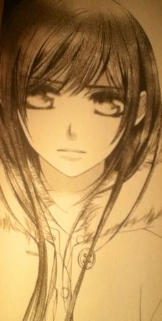 "Vampire Knight, Yuki's sad eyes. ""Those eyes would lure a vampire..."" -Kaname Kuran"