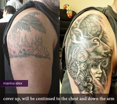 Cover up steam punk shaman tattoo by MarinaAlex on @DeviantArt