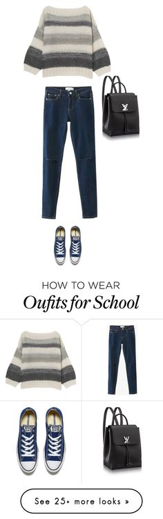"""""""School Cool"""" by meilanisuban on Polyvore featuring Converse"""