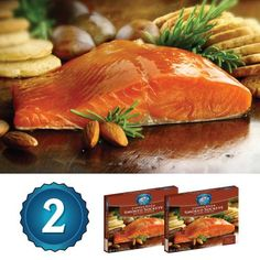 Alaska Smoked Salmon - Copper River Seafoods, Inc. - 2 Pack Gift Set - Smoked Sockeye Salmon Fillets - (4 oz. each) * Unbelievable product is here! : Quick dinner ideas.