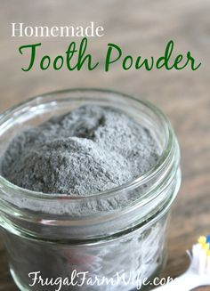 Homemade Tooth Powder. My teeth have never felt cleaner since using this all-natural homemade tooth powder. It's mineral-richness give me hope of finally making my teeth stronger!