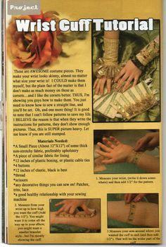wrist cuff tutorial 1