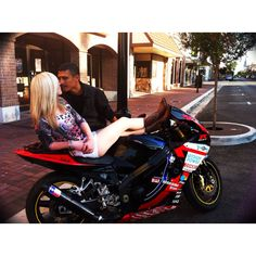 Motorcycle engagement pic