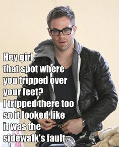 Another Socially Awkward Chris Pine meme by K1tt3n & Jawn_cakes on Twitter.  My man