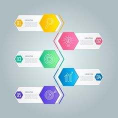 Infographic design business concept with 5 options.
