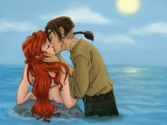 ariel and jim - disney-crossover Fan Art