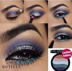 Love this look with #MotivesCosmetics using the Limited Edition Island Breeze palette www.motivescosmetics.com/bunky16