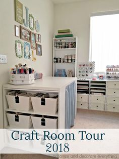Craft Room Guest Room Tour 2018 Organize and Decorate Everything
