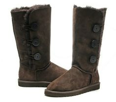 #xmas #gifts #ugg Brown Bailey Button Ugg boots