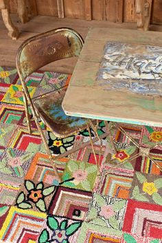 #DashAndAlbert Gypsy Rose Wool Hooked Rug I am so stoked to finally almost own this rug!!!!!!!