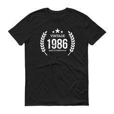 1986 Birthday Gift, Vintage Born in 1986 t-shirt for men, 32nd Birthday shirt for him, Made in 1986 T-shirt, 32 Year Old Birthday Shirt #32ndBirthday #1986 #1986Shirt #BirthdayGift #BornIn1986 #MadeIn1986 #Vintage1986 #him #BirthdayShirt #men