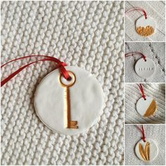 DIY Metallic Gold Clay Gift Tags