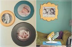 love these colourful circular frames