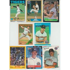 Huge 25 + Different WALT TERRELL cards lot 1986 - 1993 all Tigers Listing in the 1980-1989,Sets,MLB,Baseball,Sports Cards,Sport Memorabilia & Cards Category on eBid United States | 147986529