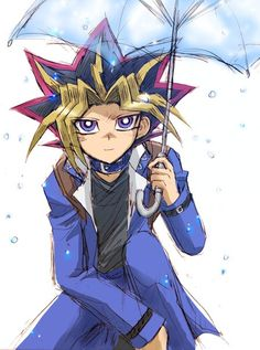 Bajo la lluvia, será mejor que te cubras porque si te enfermas, ¿quién me apoyará en el duelo?     ~ Yami Yugi ~