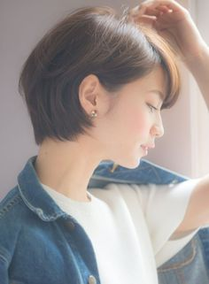 Haircut 2018 Femme Ideas For 2019 Korean Short Hair Bob, Girl Short Hair, Short Hair Cuts, My Hairstyle, Pretty Hairstyles, Shot Hair Styles, Long Hair Styles, Hairstyles Haircuts, Hair Looks