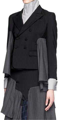 FACETASM - 'Euphoric' tiered patchwork pleat wool jacket |