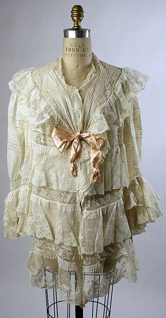 Dressing Jacket - c. 1900 - Cotton, silk - @~ Mlle