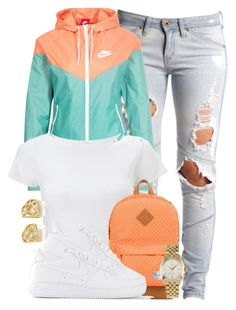 Nike Sportswear Windrunner Jacket. by cheerstostyle on Polyvore featuring polyvore, fashion, style, Lipsy, NIKE, Lee, Herschel Supply Co. and Rolex