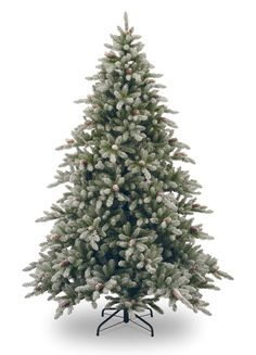 National Tree Co. Snowy Concolor Fir Artificial Christmas Tree with 800 Pre-Lit Clear Lights with Stand White Artificial Christmas Tree, Pre Lit Christmas Tree, Christmas Frames, Beautiful Christmas Trees, Christmas Store, Holiday Tree, Xmas Tree, Christmas Holidays, Holiday Decor