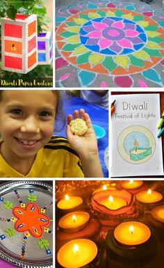 How to Celebrate Diwali with Kids - Kid World Citizen Diwali For Kids, India For Kids, Diwali Craft, Art For Kids, Crafts For Kids, Diwali Games, Diwali Activities, Kindergarten Activities, Toddler Activities