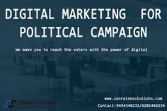 Digital Marketing for the political campaign with sunraise solutions. http://sunraisesolutions.com/political-campaign-company-an…/ Contact: 9494348232 / 6281446234 #digital #marketing #political #campaign #india